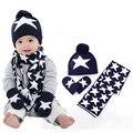 Шапка для мальчиков и девочек  шарф и перчатки  комплект  детская вязаная шапка  модные детские шапки на осень и зиму  комплекты из 3 предмето...