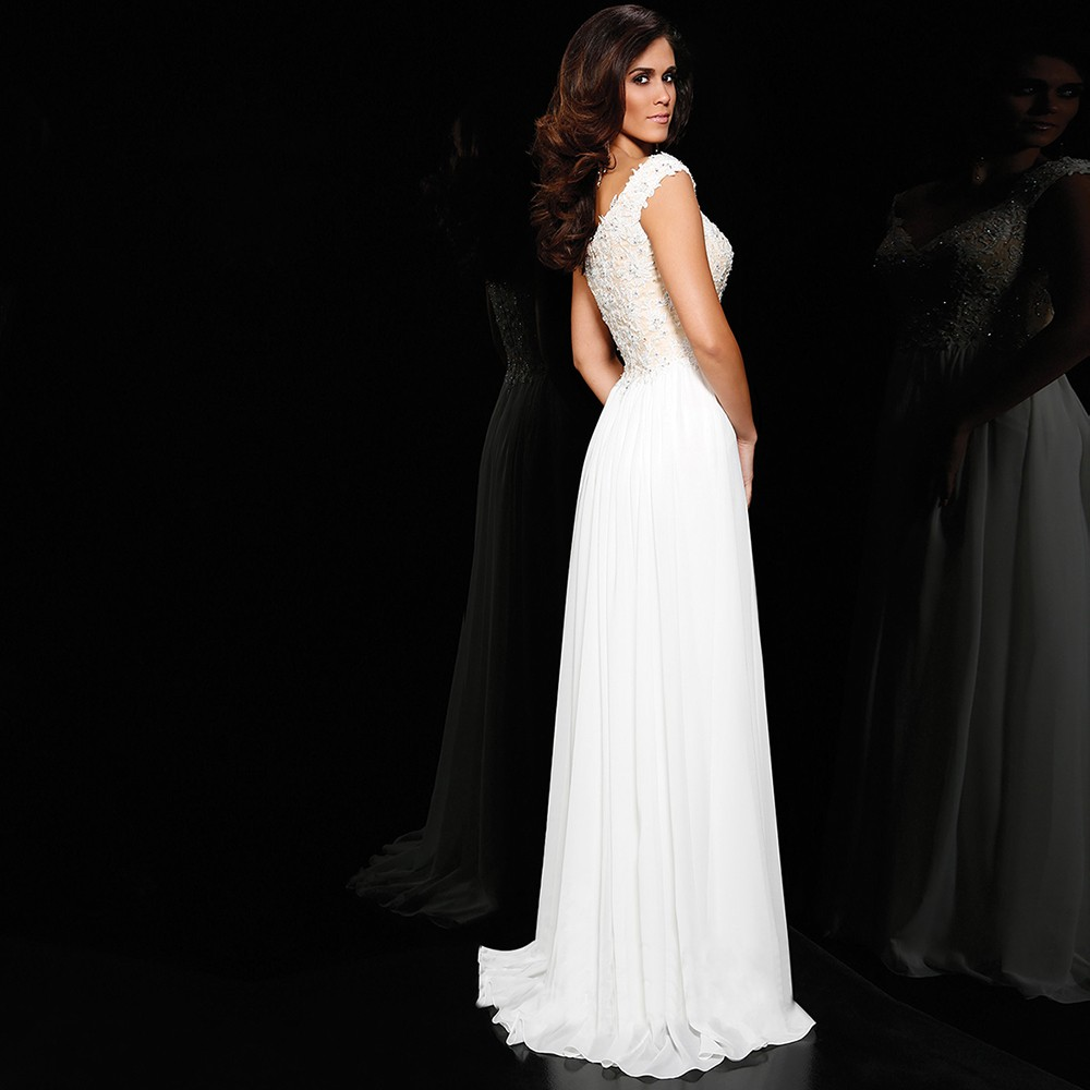 PF290-Simple-A-Line-Cap-Sleeve-V-Neck-White-Sequin-Long-Evening-Dresses-2015-Special-Occasion (4)