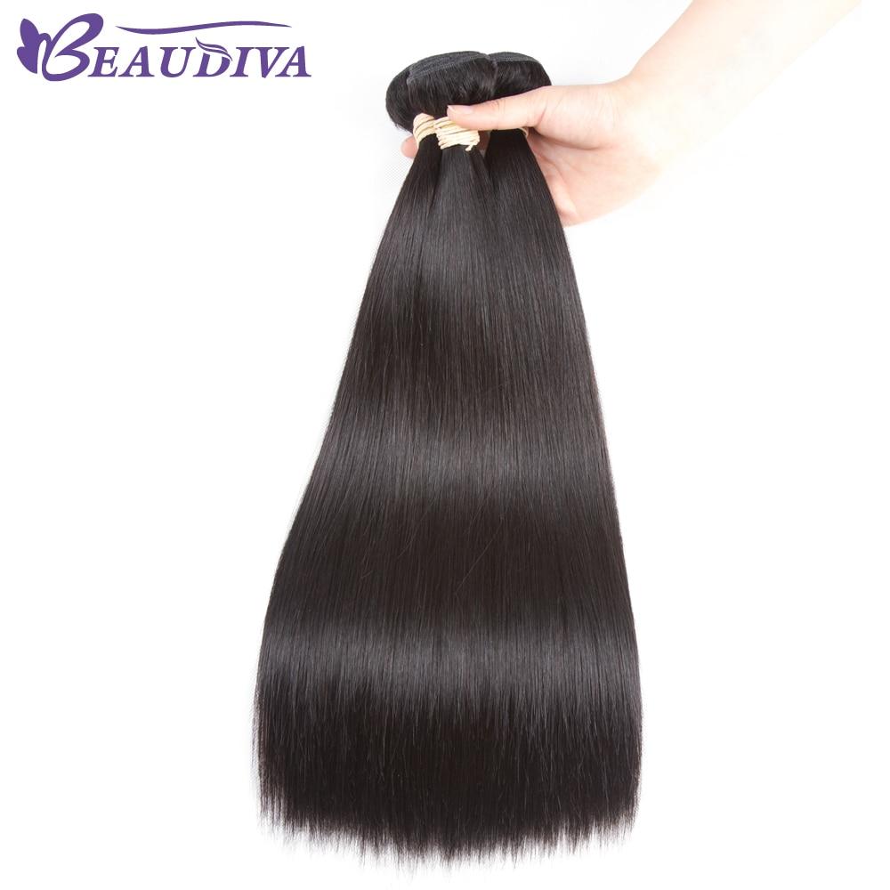 BEAUDIVA Straight Hair Bundles 4pcs/lot Natural Color Peruvian Straight Hair 100% Human Hair Weave Bundles Straight Human Hair