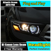 Car Styling For Toyota Highlander headlights 2009 2012 For Highlander LED headlight led drl HID KIT LED Bi Xenon Lens low beam