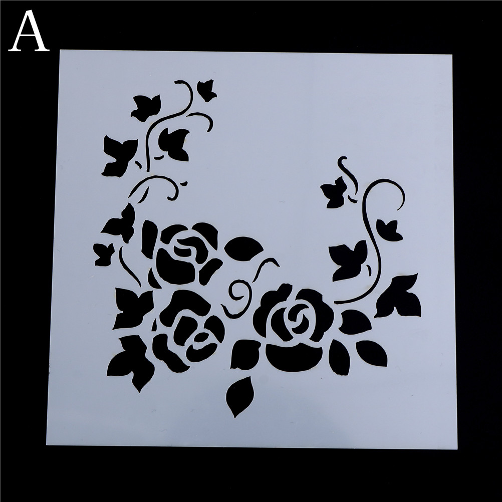DIY Craft Layering Flower Vine Stencils For Walls Painting Scrapbooking Album Decorative Paper Cards