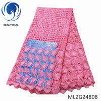BEAUTIFICAL Lace Guipure Fabric Water Soluble Embroidery Nigerian Lace Summer Dress Sewing Fabric ML2G248