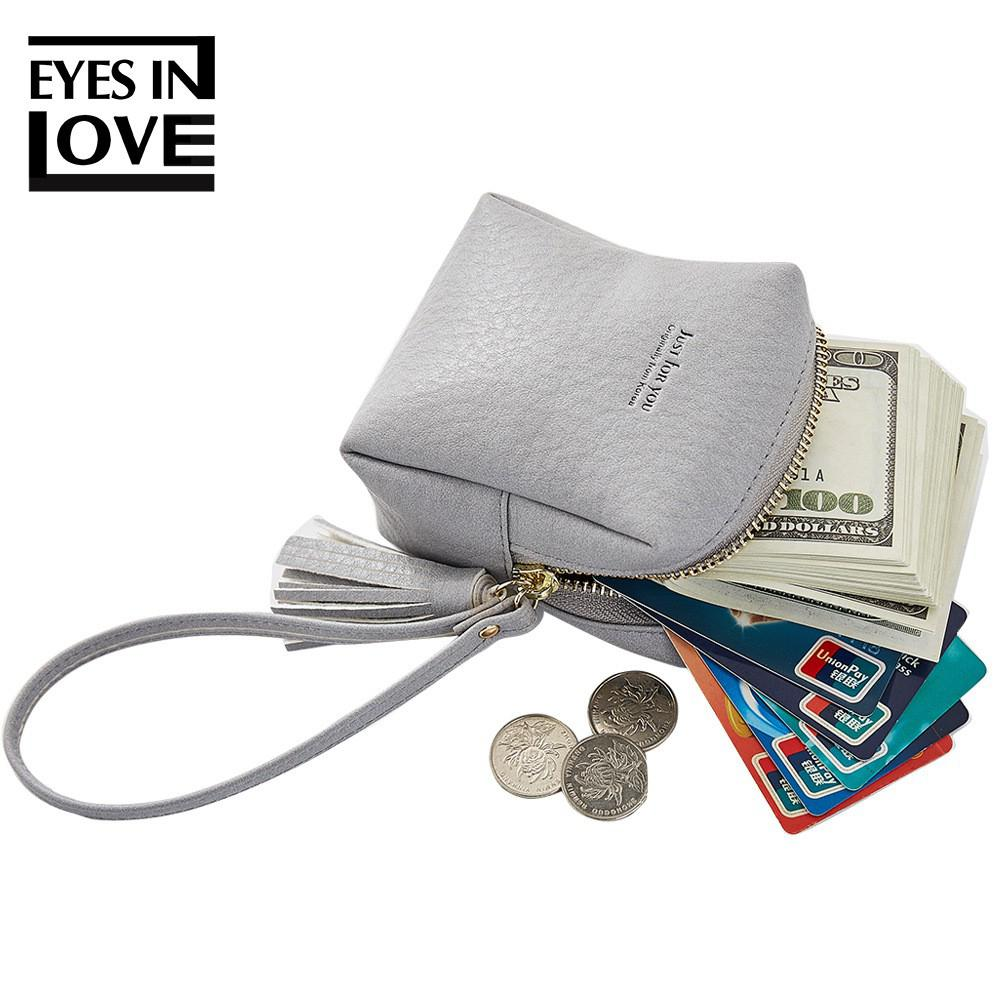 banabanma Cute Bag Girl Student Steamed Buns Shape Wallet PU Leather Coin Purse Mini Tassels Pockets Small Bags For Women ZK30