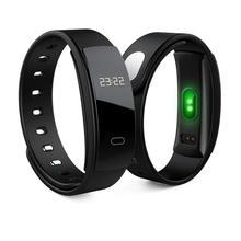 Rastreador atividade QS 80 Banda OLED Do Bluetooth Freqüência Cardíaca Inteligente Pulseira para IPhone & Android Telefones Preto Azul Roxo Laranja