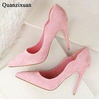 Women Pumps Elegant High Heel Women Pumps Slip On Pointed Toe Ladies Shoes 2017 Woman Heels