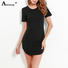 Vestidos Plus size 2019 Women Black red white Sexy Slim Dresses Summer Casual Short Sleeve Package Hip Bodycon Female Mini Dress