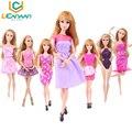 UCanaan 10 Unids Hecho A Mano Mezcla de Estilos Wedding Party Vestido de Vestidos y Ropa para Barbie Doll Regalo de Navidad Envío Gratis