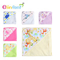 Elinfant  1 pcs 78x78cm 100% cotton baby hooded blanket free shipping