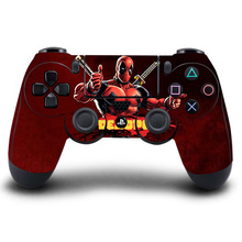 HOMEREALLY PS4 Sticker Deadpool Man Protective PS4 Sticker Skin Coverage For PlayStation 4 Wireless Controller Game Accessory