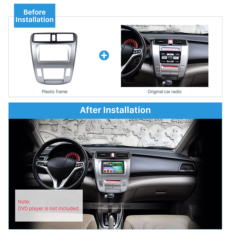 Seicane 2Din Car Radio Frame Fascia Trim Kit for 2008-2014 Honda City Ballade Auto AC Radio Frame DVD Panel Dash Kit Auto Stereo все цены