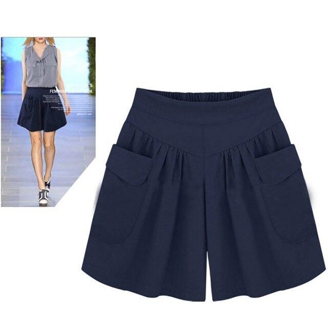 Fashion Women Summer High Waist Short Wide Leg Casual Loose Female Shorts Plus size