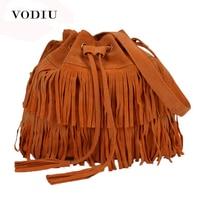 Women Bolsa Feminina Tassel Shoulder Bags Tote Purse Faux Suede Messenger Hobo Bag BG446