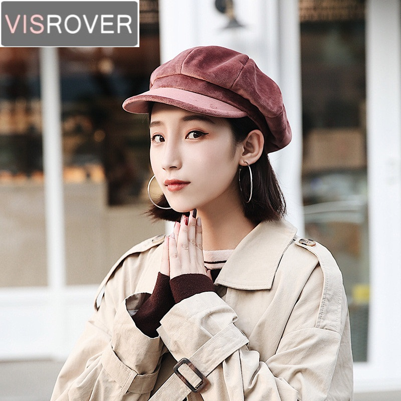 f16c19b3b US $8.01 49% OFF VISROVER New Winter Hats for Women Solid Corduroy Military  Girl HatS for Female Ladies Designer Caps Warm Casual High Quality-in ...