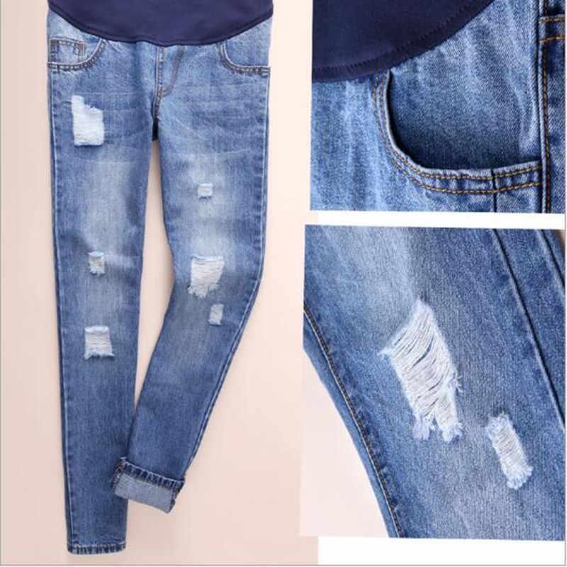 Hamile pantolonu Kot Gebelik Hemşirelik Hamile Kadınlar Için Giyim Pantolon Tulum Denim Pervane Göbek Legging QV808