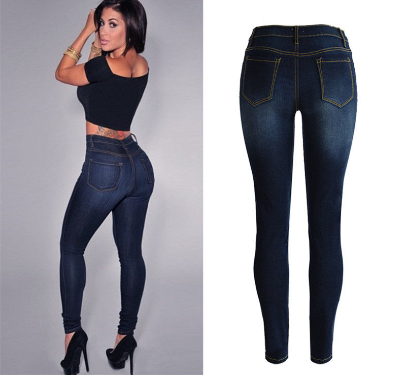f264d0cfaced Women High Waisted Sculpt Butt Lifting Skinny Jeans Push up Stretch Fitted  Tight Pants Trousers-in Jeans from Women s Clothing on Aliexpress.com