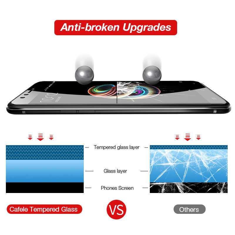 Cafele untuk Xiao Mi Pocophone F1 Mi 9 8 6 5X A1 A2 Mi X 2 2 S 3 Merah mi Note 7 8 Pro 4A Pelindung Layar HD Jelas Marah Kaca