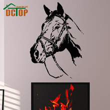 High Quality PVC Animal Wall Stickers Living Room Home Decor Horse Decal Stickers On The Wall