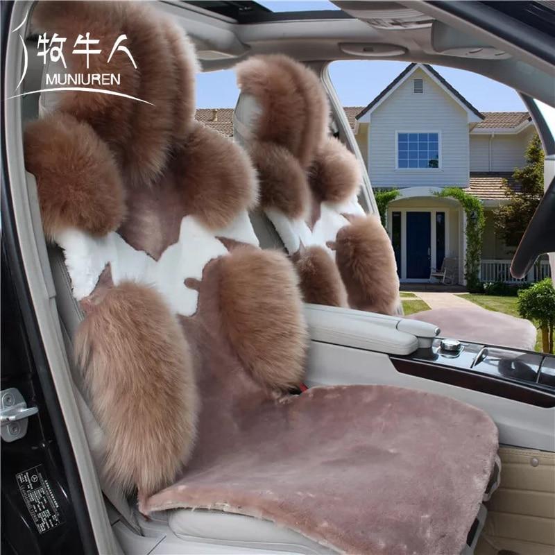 MUNIUREN 1 unids Australia Lana Asiento de Coche de Coche Cojín Del - Accesorios de interior de coche - foto 4