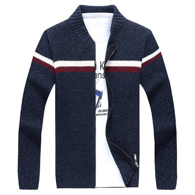 2017 hommes chandails célèbre marque Zipper tricoté Cardigan pour hommes hiver hommes col roulé Cardigan homme tricots