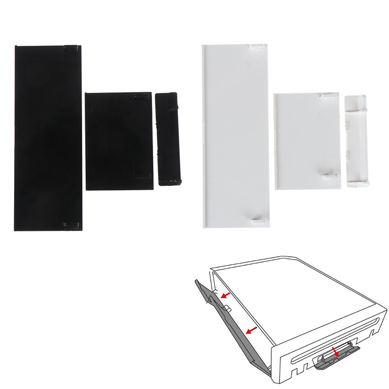 3Pcs/set Memory Card Door Slot Cover Lids Replacement For NS Wii Console