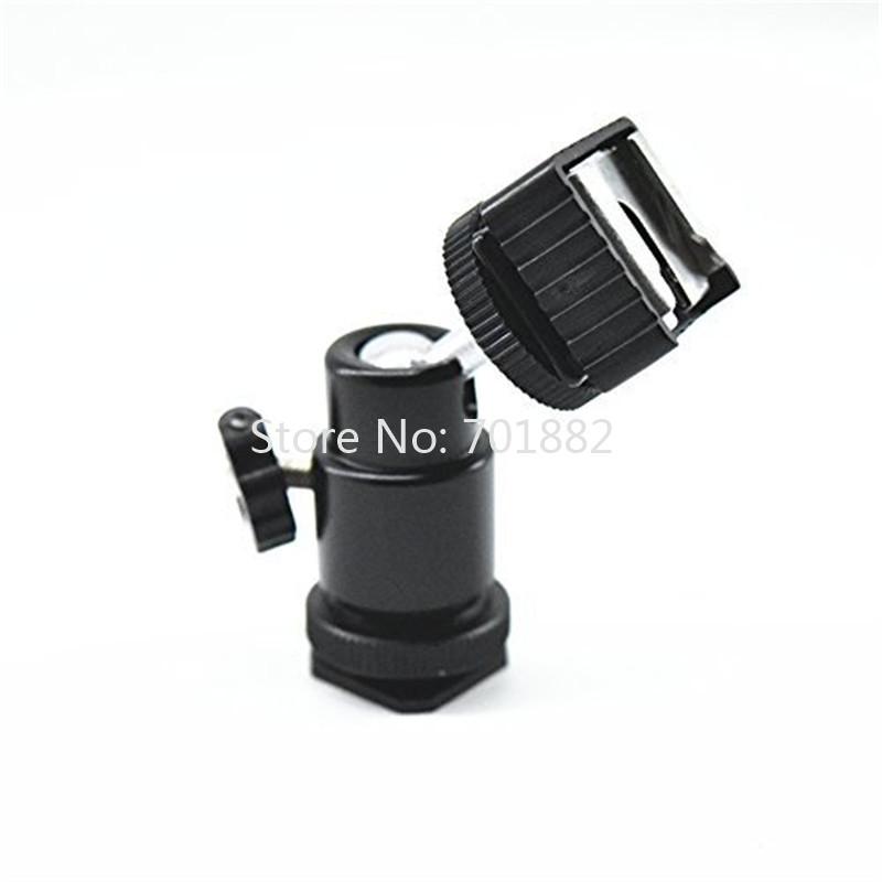 Tripod Head Mini Ballhead Hot Shoe Adapter 90 Degree Vertical Shooting Ball Head 14 Light Stand Mount to 14 Thread (2)