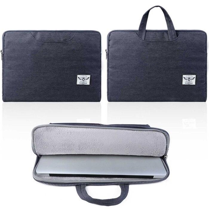 business style font b men b font Laptop handbag for macbook air 11 12 13 denim