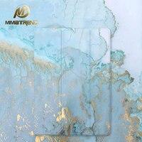 Gold Blue Marble Grain PU Case For IPad Pro 9 7 Air Air2 Mini 1 2