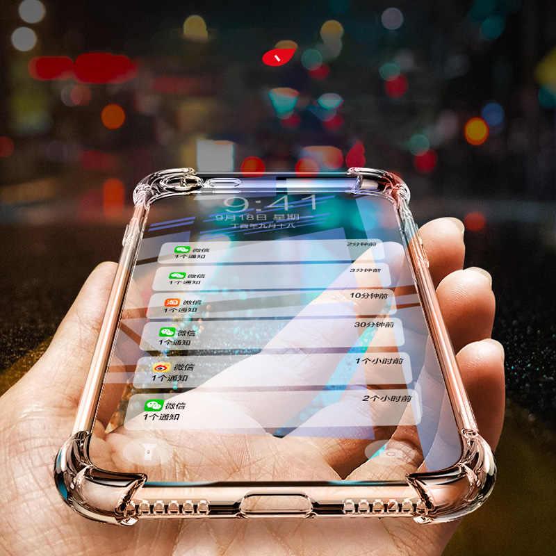 Jamular Прозрачный чехол для iPhone 7 8 плюс Мягкие TPU X XS MAX XR 5S SE 6 6s антидетонационных