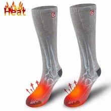 Носки с подогревом для хронически холодных ног для женщин и мужчин холодные уличные спортивные 3,7 напряжения термо-носки