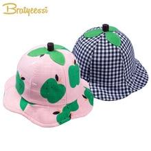 חמוד בייבי קיץ כובע לילד ילדה קריקטורה כותנה בייבי Sunhat מתכוונן כובע דלי לילדים במשך 6-15 חודשים