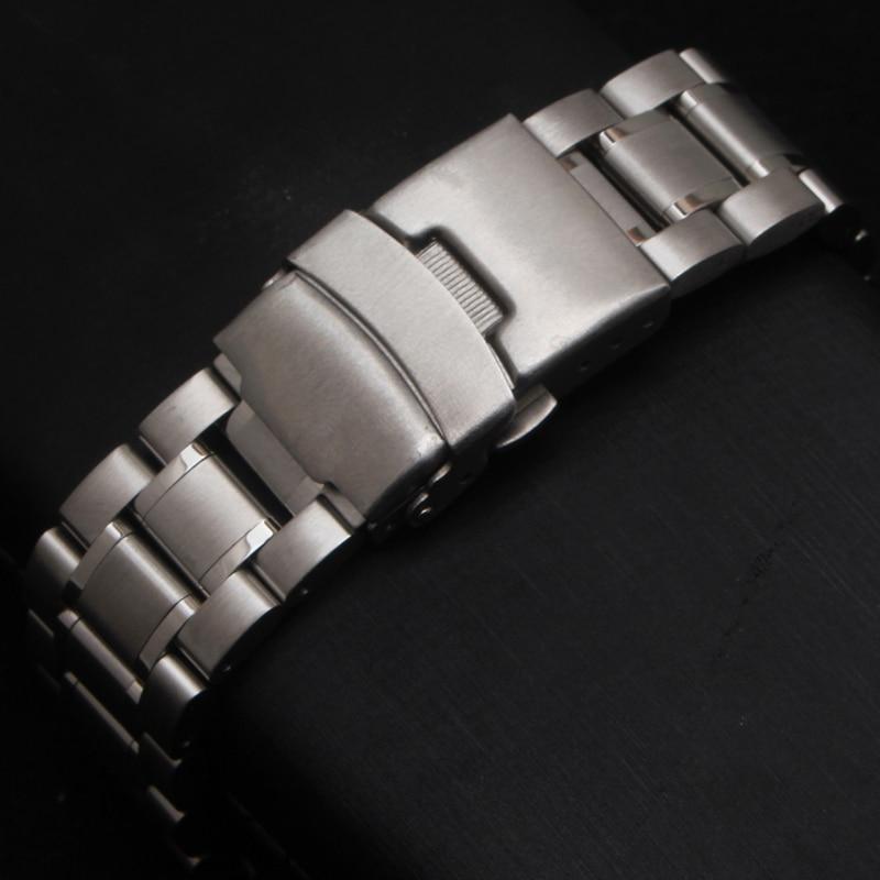 Neue Heiße Verkauf Mann Frau Silber Solide Edelstahl Metall Curved - Uhrenzubehör - Foto 2