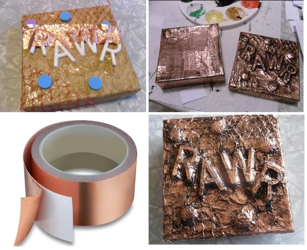 50mm*2M Single Side Conductive Copper Foil Tape Strip Adhesive EMI Shielding Heat Resist  Sticker For Grounding Paper Circuit50mm*2M Single Side Conductive Copper Foil Tape Strip Adhesive EMI Shielding Heat Resist  Sticker For Grounding Paper Circuit