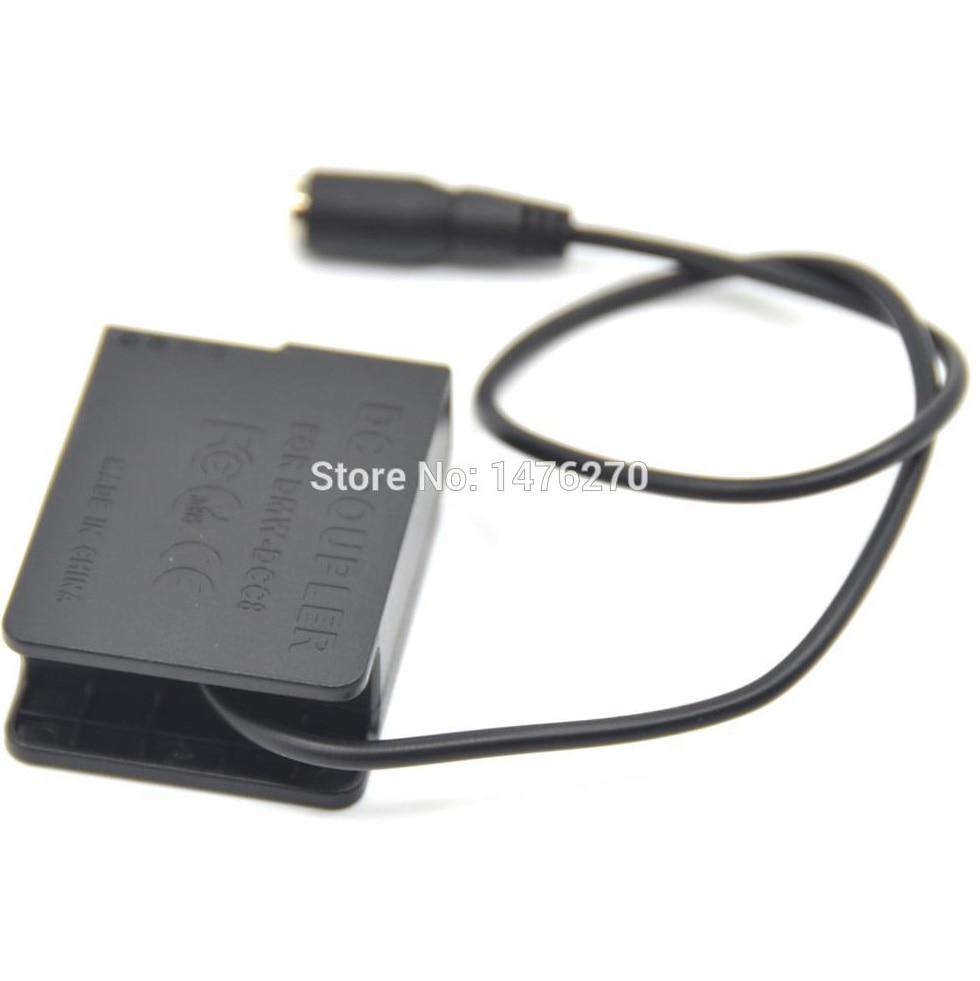 Acoplador de alimentación DC de la batería DMW-DCC8 Maniquí Para Panasonic DMW-AC8 Adaptador de corriente