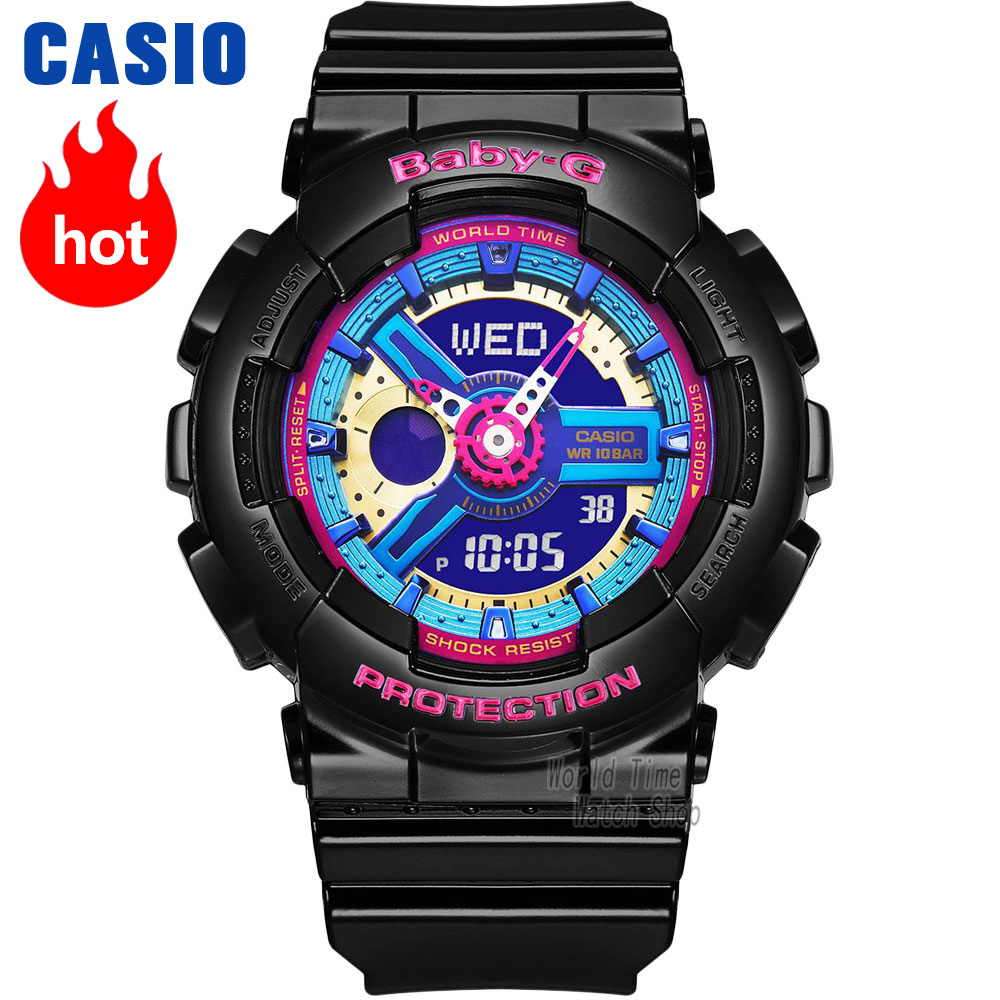 Casio watch Casual fashion sports waterproof double significant female table BA-112-1A BA-112-7A casio ba 110be 7a