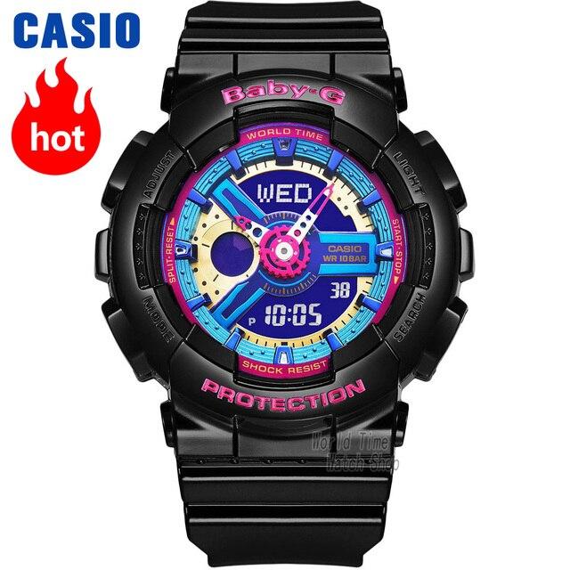 74c4503c2 Reloj Casio BABY-G reloj deportivo de cuarzo para mujer tendencia de moda  cool doble