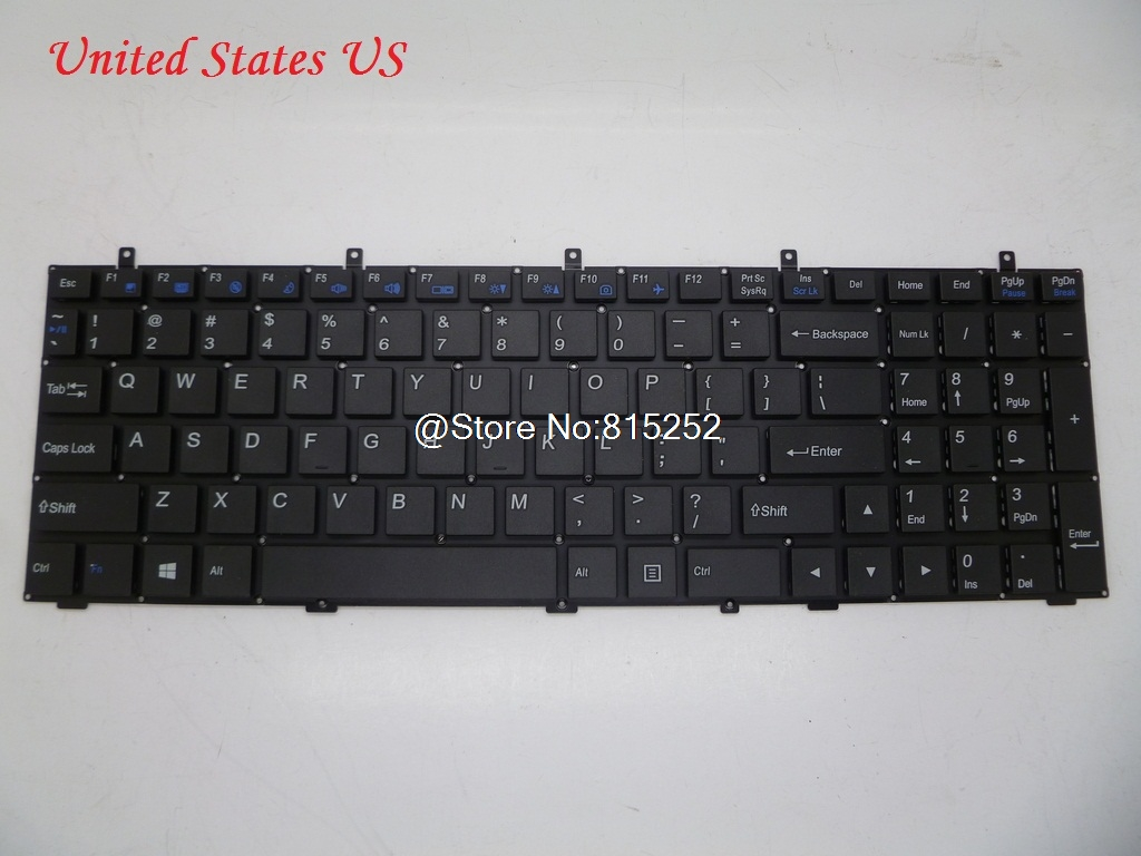 Laptop Keyboard For CLEVO W350ETQ W350SKQ W350SSQ W355STQ W370ET W370SK W370SSQ W370ST United Kingdom UK United States US Russia laptop keyboard for acer silver without frame united kingdom uk v 121646ck2 uk aezqse00110