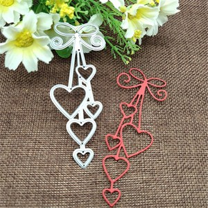 Heart Love heart bow tie Metal Cutting Dies for DIY Scrapbooking Album Paper Cards Decorative Crafts Embossing Die Cuts(China)