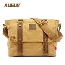 цена на AUGUR Vintage Canvas Mens Bags School Satchel for Men Messenger Bag Casual Pattern Brand Laptop Briefcase Versatile Business Bag