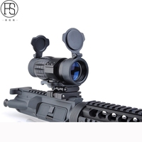 Tactical Optic Sight 3X Magnifier Scopes Hunting Airsoft Rifle Scope Adjusted With Flip Up Mount Fit