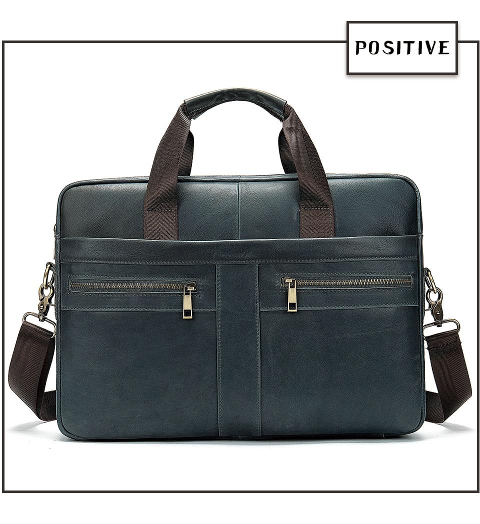 HTB1j3k3RAzoK1RjSZFlq6yi4VXaV WESTAL Bag men's Genuine Leather briefcase Male man laptop bag natural Leather for men Messenger bags men's briefcases 2019