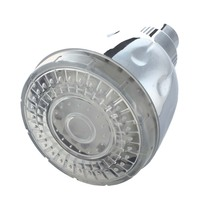 ABS Finish LED Color Changing Rainfall Round Shower Head Multicolor 7 Colors Change
