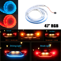 59 4 Color Flowing DRL Led Strip For Tail Trunk Luggage Dynamic Blinkers Turn Signals Rear