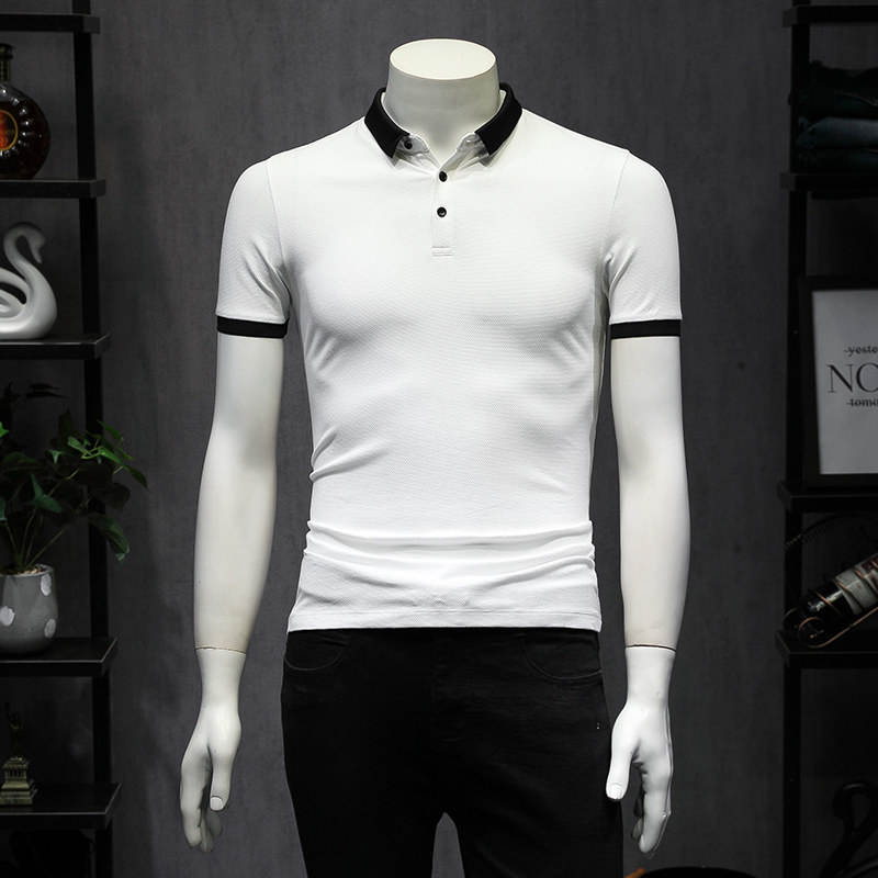 Polo   Shirt Men Summer 2019 Solid   Polo   Homme Short Sleeve Men   Polo   Shirt Slim Fit Turn Down Collar Simple Business Formal Wear