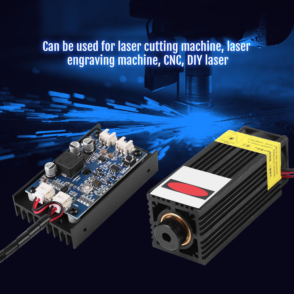 15W Laser Head Laser Module 450nm Blu-ray Laser Engraving Module Laser Cut Tool Woodworking Machinery Parts With TTL