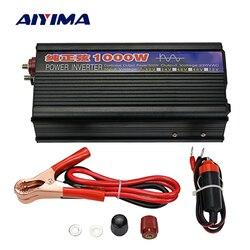 Aiyima 1000 W Inverter Gelombang Sinus Murni DC12V/24 V untuk AC220V 50Hz Power Converter Booster untuk Mobil inverter Rumah Tangga DIY