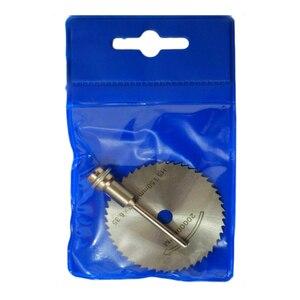 Image 5 - Matkap Dremel aksesuarları HSS 1 adet Mini dairesel testere bıçakları güç araçları ahşap kesme disk taşlama çark seti döner aletler için