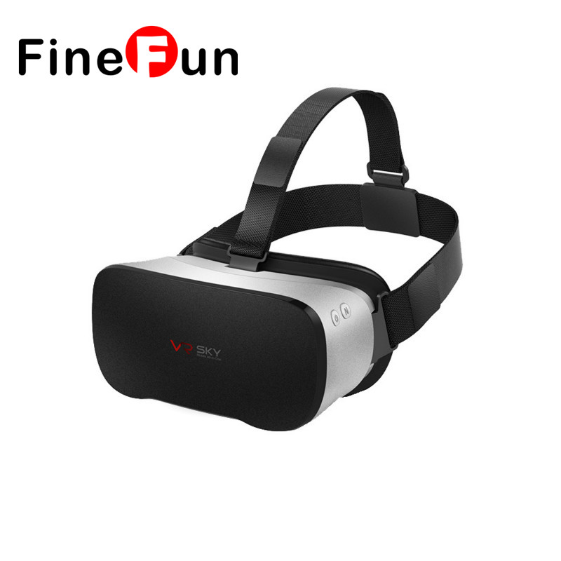 Finefun  original android 4.4 smart 3d gaming vr realidad virtual caja de Vidrio