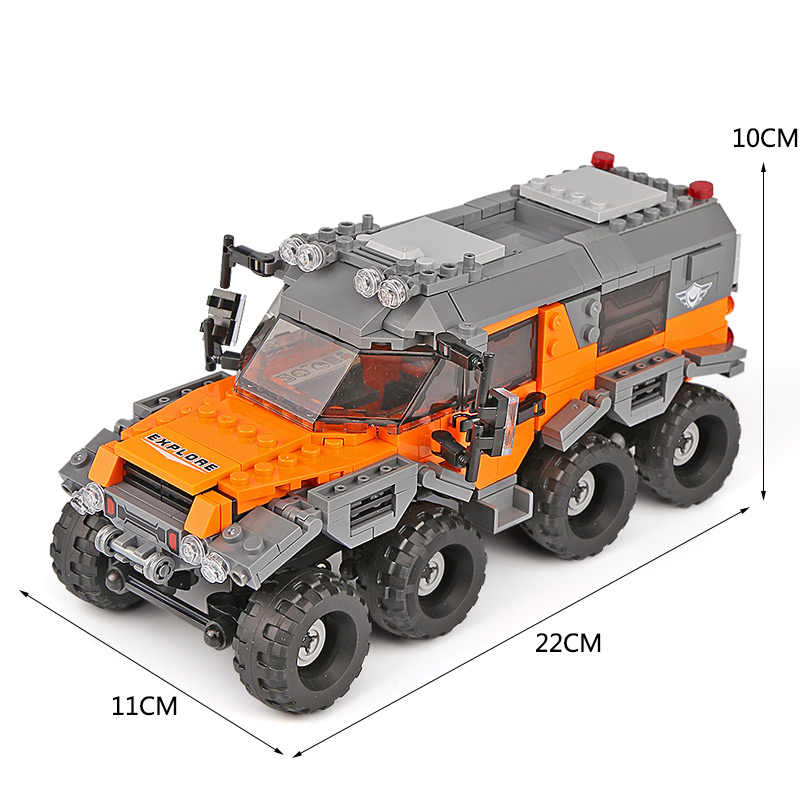New 03027 Car Series The All Terrain Vehicle Set Building Blocks Bricks Kids Toys Technic Car Models Christmas Gifts