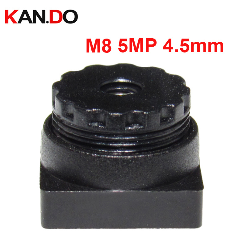 "M8 Lens 2MP M8 4.9mm Mini Camera Lens 1/4""for Built-in IR Filter 650nm F2.4 Viewing Angle 65 Degree Lens"