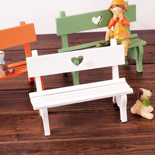 Hot Zakka Home Decoration White Long Wooden Bench Model Decor Cartoon  Furniture Display 5*7*9 Cm Free Shipping In Statues U0026 Sculptures From Home  U0026 Garden On ...